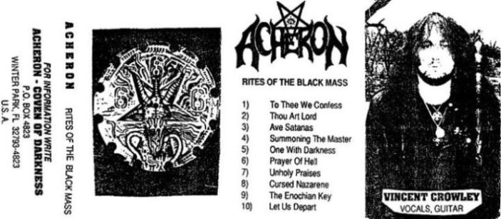 ACHERON - Rites of the Black Mass cover