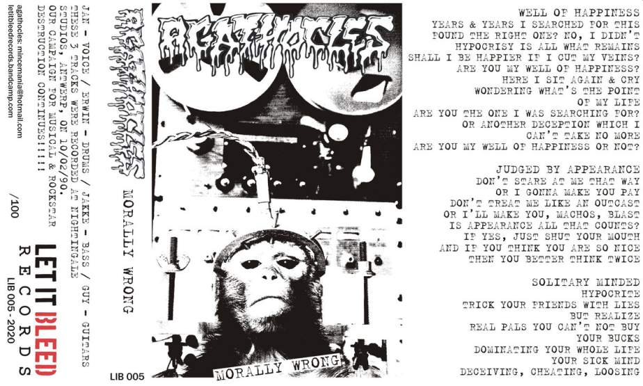 AGATHOCLES - Morally Wrong cover
