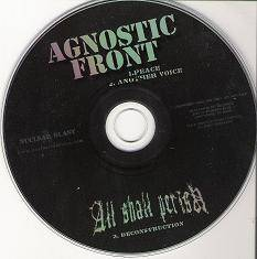 AGNOSTIC FRONT - Agnostic Front / All Shall Perish cover