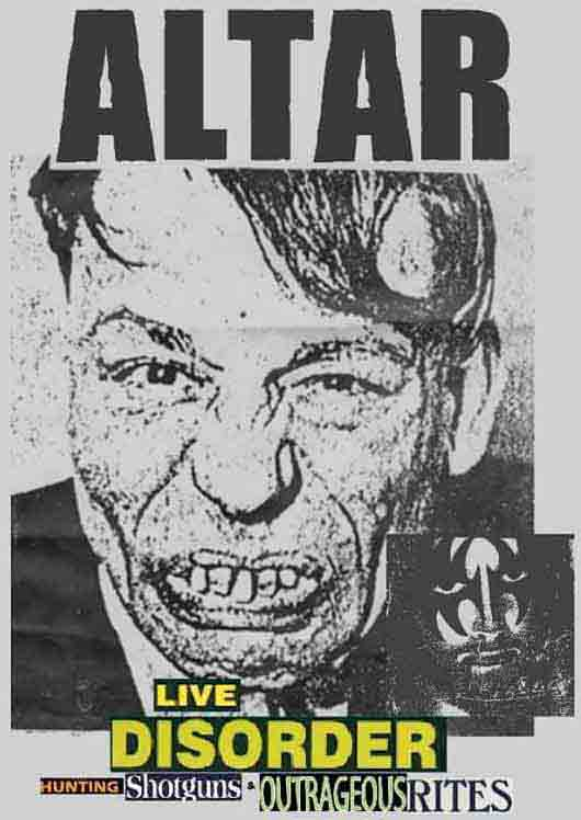 ALTAR - Live Disorder: Hunting Shotguns & Outrageous Rites cover