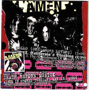 AMEN - Sampler cover