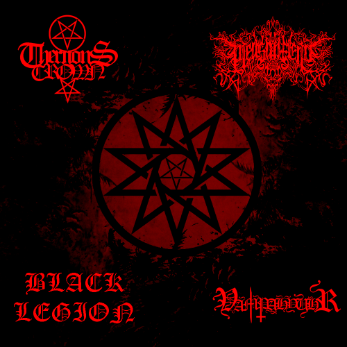 BLACK LEGION - 4 Way Split from Hell cover