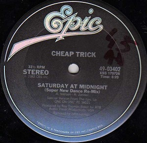 CHEAP TRICK - Saturday At Midnight cover