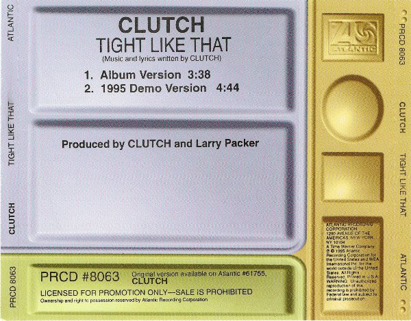 CLUTCH - Tight Like That cover