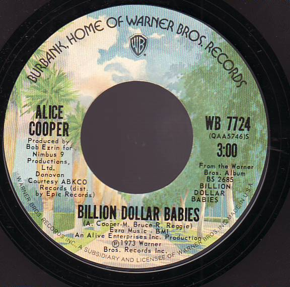 ALICE COOPER - Billion Dollar Babies cover