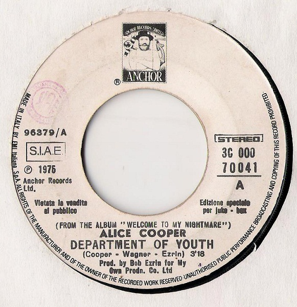 ALICE COOPER - Department Of Youth / The Secrets That You Keep cover