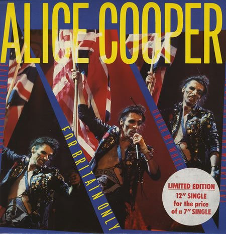 ALICE COOPER - For Britain Only cover