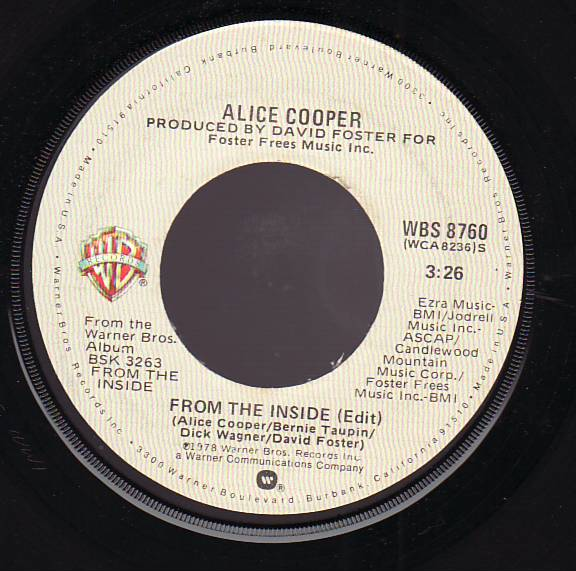 ALICE COOPER - From The Inside cover