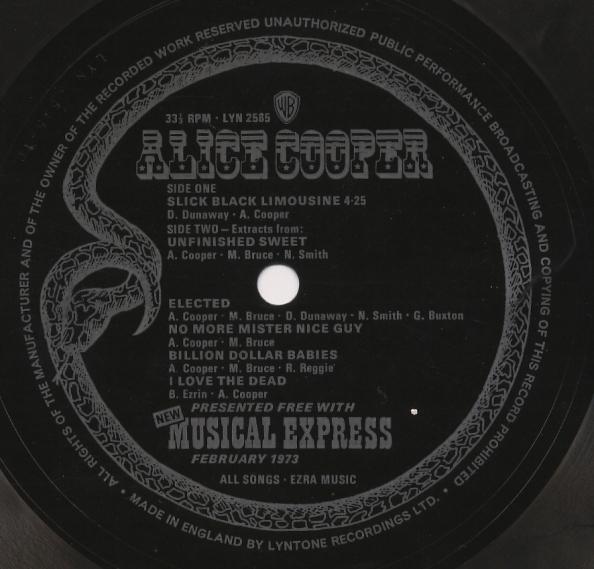 ALICE COOPER - Slick Black Limousine cover