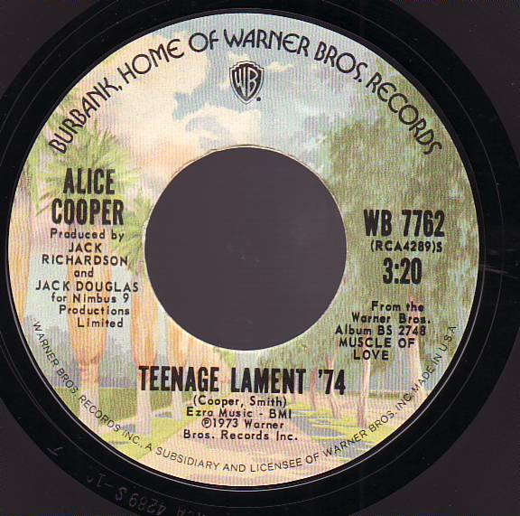 ALICE COOPER - Teenage Lament '74 cover
