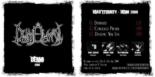 DEAD ETERNITY - Demo 2008 cover