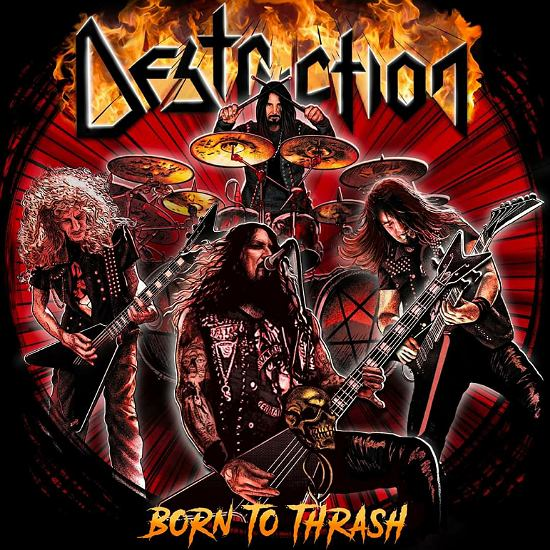 DESTRUCTION - Born To Thrash cover