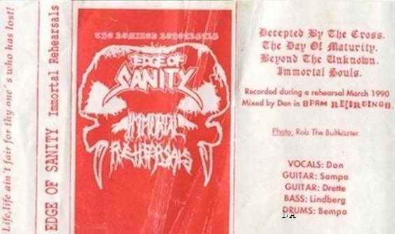 EDGE OF SANITY - The Immortal Rehearsals cover