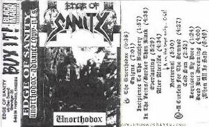EDGE OF SANITY - Unorthodox cover