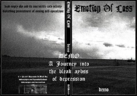 EMOTION OF LOSS - Demo - A Journey Into The Bleak Abyss Of Depression cover