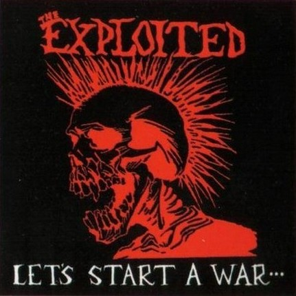 THE EXPLOITED - Let's Start a War... Said Maggie One Day cover