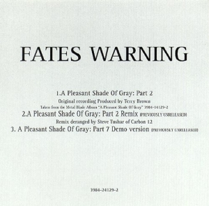 FATES WARNING - A Pleasant Shade Of Gray: Part II cover