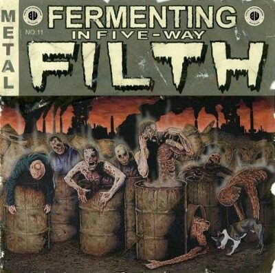 HEINOUS KILLINGS - Fermenting in Five-Way Filth cover 