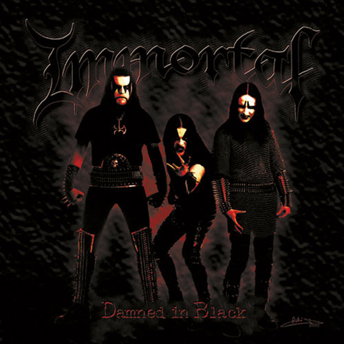 IMMORTAL - Damned in Black cover