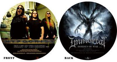 IMMORTAL - Valley of the Damned / Hordes of War cover