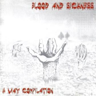 KADAVERFICKER - Blood and Sickness - 6 Way Compilation cover