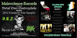 KAOS - 2012 European Tour Sampler cover