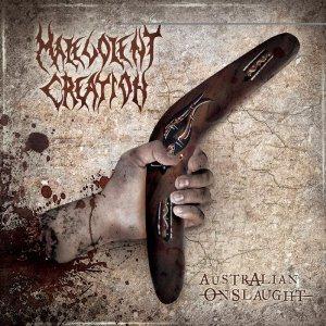 MALEVOLENT CREATION - Australian Onslaught cover