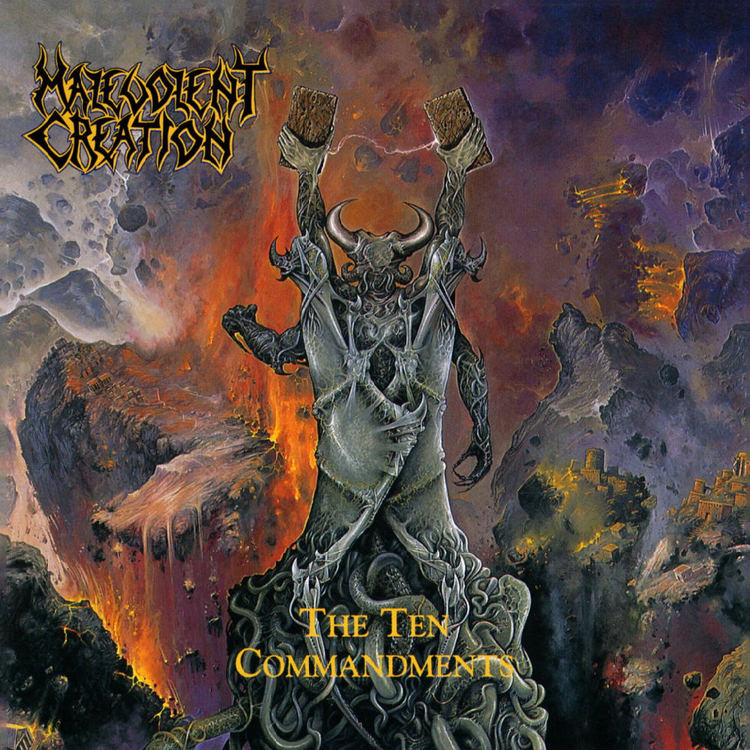 MALEVOLENT CREATION - The Ten Commandments cover