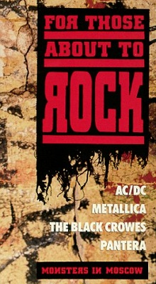 METALLICA - For Those About To Rock: Monsters In Moscow cover