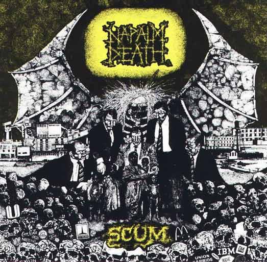 NAPALM DEATH - Scum cover