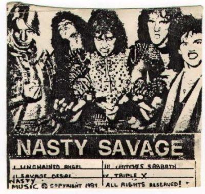 NASTY SAVAGE - Wage of Mayhem cover
