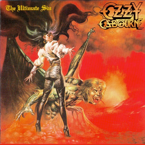 OZZY OSBOURNE - The Ultimate Sin cover