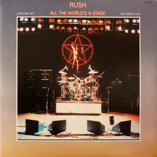 RUSH - All the World's a Stage cover