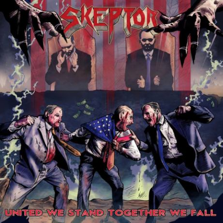 SKEPTOR - United We Stand...Together We Fall cover