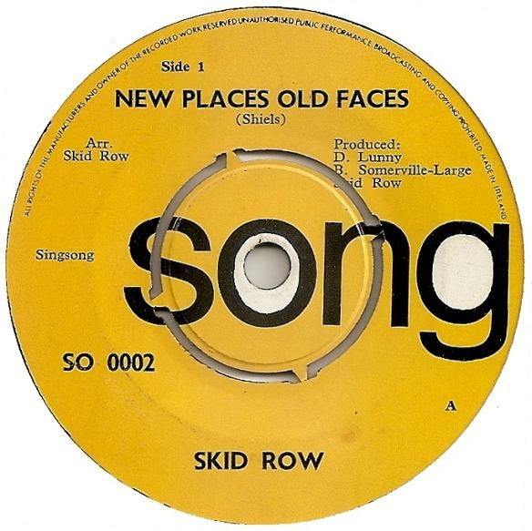 SKID ROW - New Places Old Faces cover
