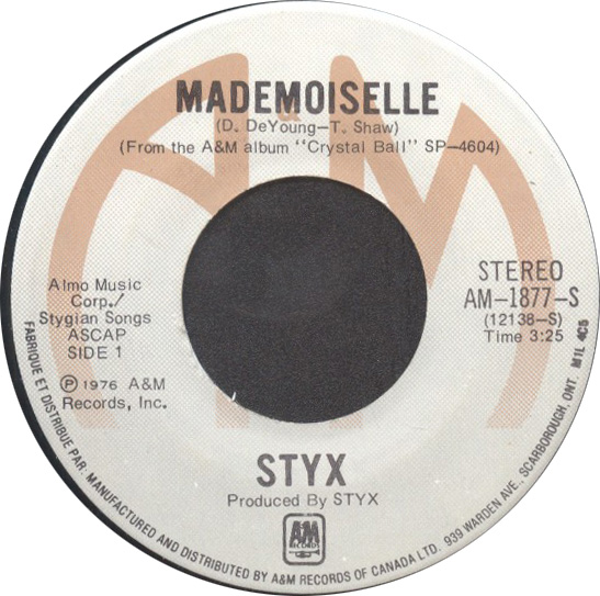 STYX - Mademoiselle / Light Up cover