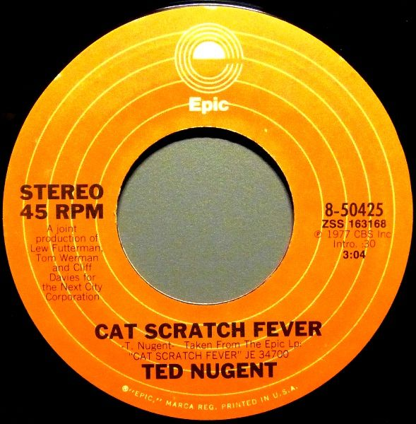Ted nugent cat scratch fever reviews for What does cat scratch fever look like