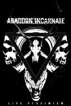 ABADDON INCARNATE Live Pessimism album cover