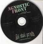 AGNOSTIC FRONT Agnostic Front / All Shall Perish album cover