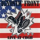AGNOSTIC FRONT Live At CBGB album cover
