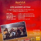 ANGRA Live Acoustic at FNAC album cover