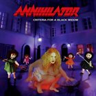 ANNIHILATOR Criteria for a Black Widow album cover