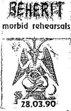 BEHERIT Morbid Rehearsals album cover