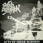 BEYOND DESCRIPTION Acts Of Sheer Madness album cover