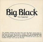 BIG BLACK It's Toasted album cover