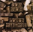 BOW WOW Locus 1976-1983 album cover