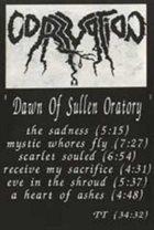 CORRUPTION Dawn of Sullen Oratory album cover