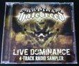HATEBREED Live Dominance 4-Track Radio Sampler album cover
