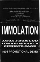 IMMOLATION 1994 Promotional Demo album cover