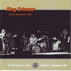KING CRIMSON Live At Jacksonville, 1972 album cover